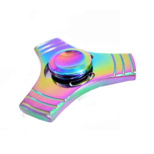 metalen fidget spinner regenboog