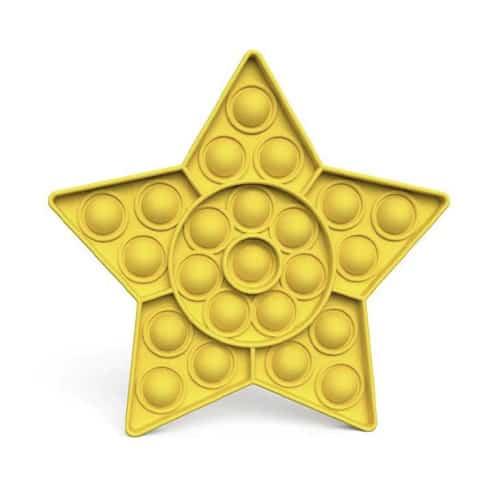 Pop it ster geel