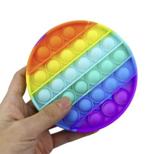 Rainbow pop it rond sfeer