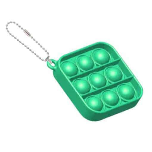 Pop it sleutelhanger vierkant groen