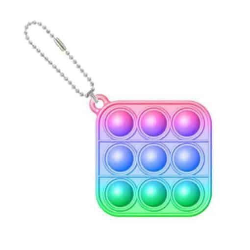Pop it sleutelhanger regenboog