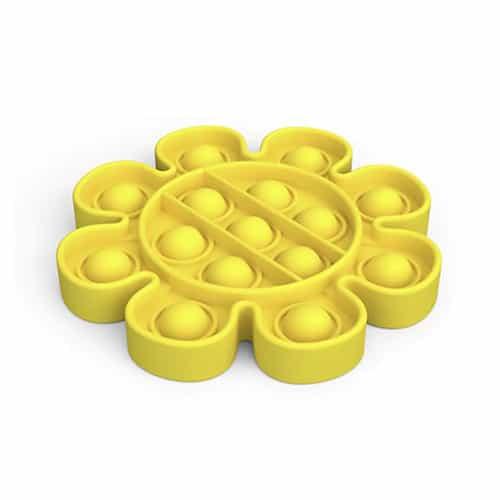 Pop it toy bloem geel