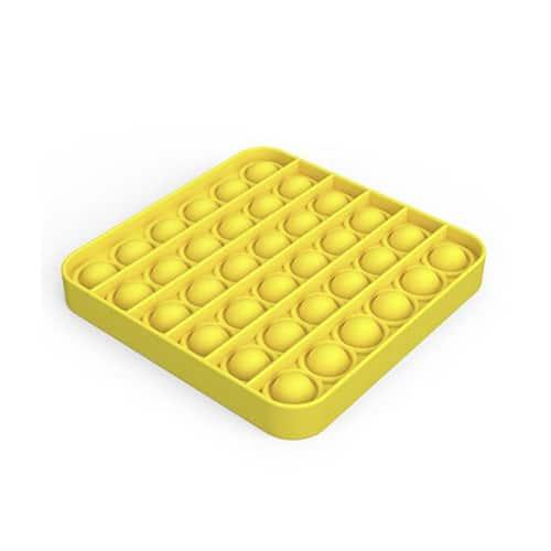 Pop it toy vierkant geel
