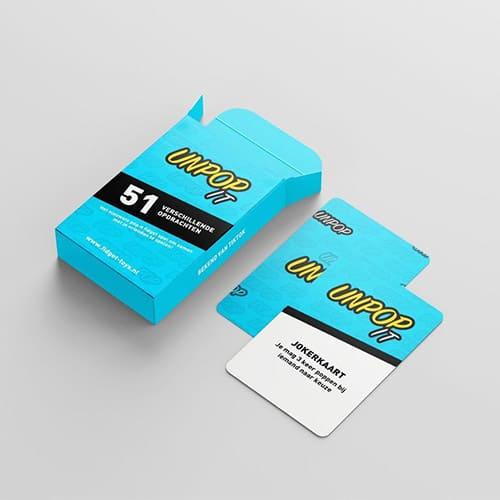 unpop it kaartspel sfeer