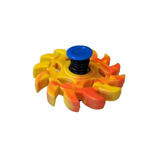 Bouncing spinner geel