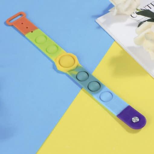 Pop it armband rainbow sfeer
