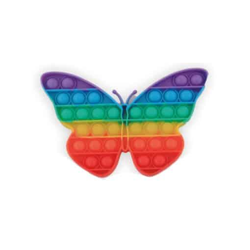 Pop it vlinder rainbow